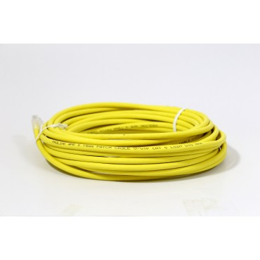 ProLink UNSHIELDED CAT6A S/FTP PATCH CORD W/ T568B WIRING, 10M, LSZH Yellow