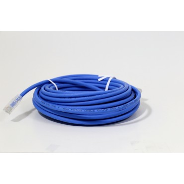 ProLink UNSHIELDED CAT6A S/FTP PATCH CORD W/ T568B WIRING, 10M, LSZH Blue