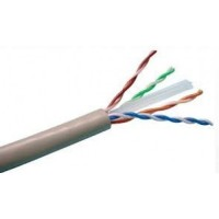 "ProLink CAT6 U/UTP Cable 4 pairs 23 AWG , LSZH , White , RIB ""305 m/roll"""
