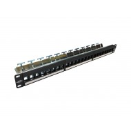 ProLink Patch Panel with 24-port ,wire management, jack type ,empty