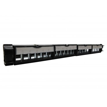 ProLink Toolless PATCH PANEL WITH 24-PORT WIRE MANAGEMENT, JACK TYPE With Out Jack