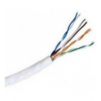 "ProLink CAT6 U/UTP Cable, 4 Pairs ,PVC ,23 AWG  , White , RIB ""305m/roll"""