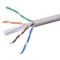 "ProLink CAT6A U/UTP Cable 4 Pairs 23 AWG , LSZH , White , RIB ""305 M/Roll"""