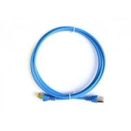 ProLink UNSHIELDED CAT6A S/FTP PATCH CORD W/ T568B WIRING, 1M, LSZH Blue